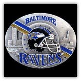 Baltimore Ravens NFL Belt Buckle