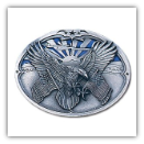 Eagle Carrying Flags Belt Buckle