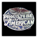 Proud to Be An American Belt Buckle
