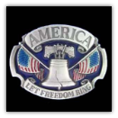 America Let Freedom Ring Belt Buckle