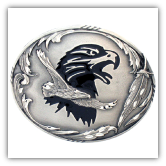 Double Eagle Diamond Cut Belt Buckle