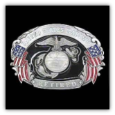 U.S. Marines Retired Belt Buckle