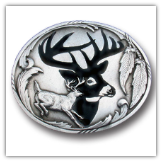 Deer Silhouette Belt Buckle