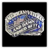 American Veteran Belt Buckle