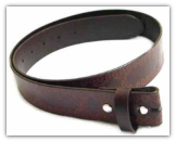Embossed Leather Belt - Brown