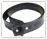 Embossed Leather Belt - Black