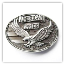 American Pride Belt Buckle (Antique Silver)