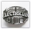 Electrician - Antique Silver Belt Buckle