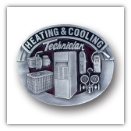 Heating & Cooling Technician Belt Buckle