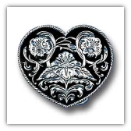 Western Heart Diamond Cut Belt Buckle