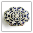 Blue Oval Belt Buckle