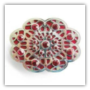 Red Oval Belt Buckle