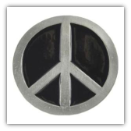 Black Peace Sign Belt Buckle