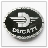 Ducati Belt Buckle - Black