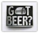 Got Beer Belt Buckle - Rectangular