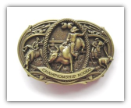Championship Rodeo Belt Buckle - Antique Brass
