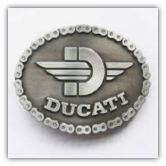 Ducati Belt Buckle - Antique Silver