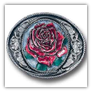 Western Rose Belt Buckle