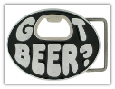 Got Beer? Oval Belt Buckle