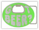 Got Beer? Belt Buckle - Neo Green