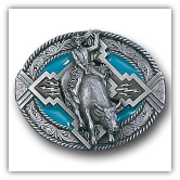 Rodeo w/Rope Border Belt Buckle