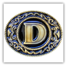"Monograms™ ""D"" Belt Buckle"