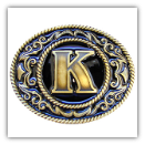 "Monograms™ ""K"" Belt Buckle"
