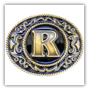 "Monograms™ ""R"" Belt Buckle"