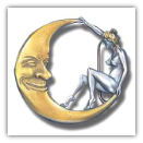 Girl on the Moon Belt Buckle
