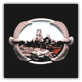 Cowboy with Mountain Scene Belt Buckle